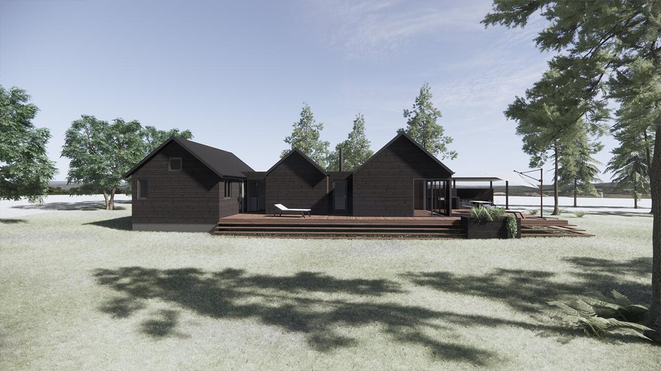 061_skitseforslag_3D_facade_tilbygning_sommerhus_veddinge bakker_arkitekttegnet_daniel_nielsen