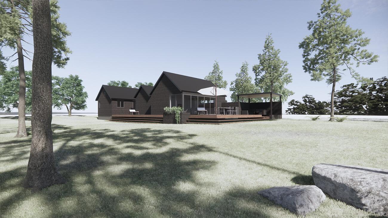 061_skitseforslag_3D_sydvest_tilbygning_sommerhus_veddinge bakker_arkitekttegnet_daniel_nielsen