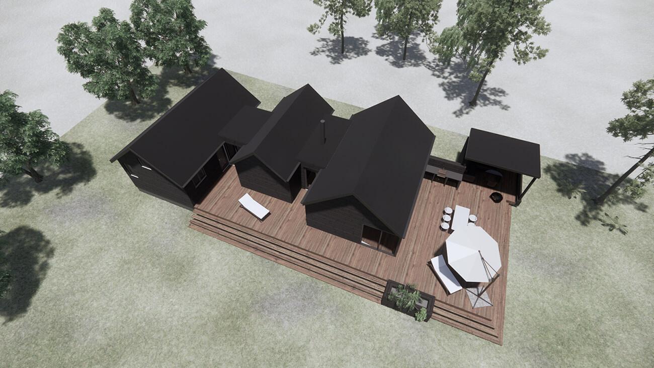 061_skitseforslag_3D_tilbygning_sommerhus_veddinge bakker_arkitekttegnet_daniel_nielsen