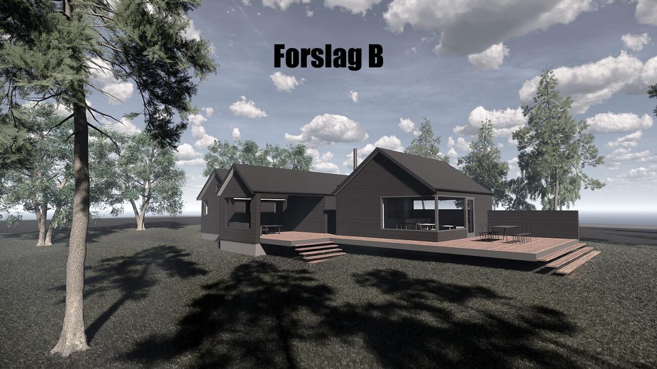 061_skitseforslag_B_tilbygning_sommerhus_veddinge bakker_arkitekttegnet_daniel_nielsen